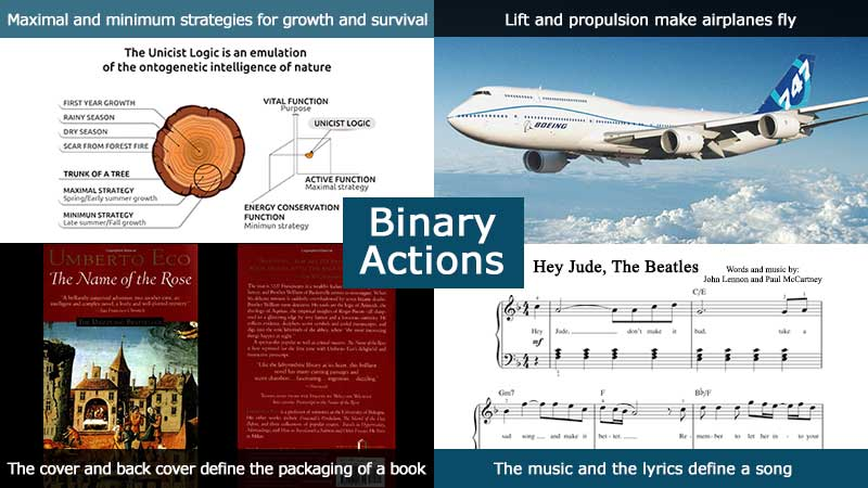 Unicist Binary Actions