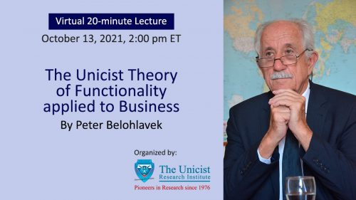 Lecture: The Unicist Theory of Functionality applied to Business